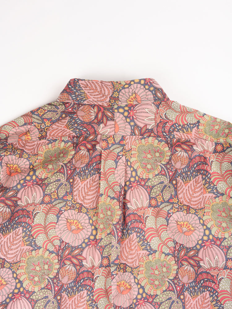 19 century bd, pink floral print, cotton lawn, engineered garments, back of collar