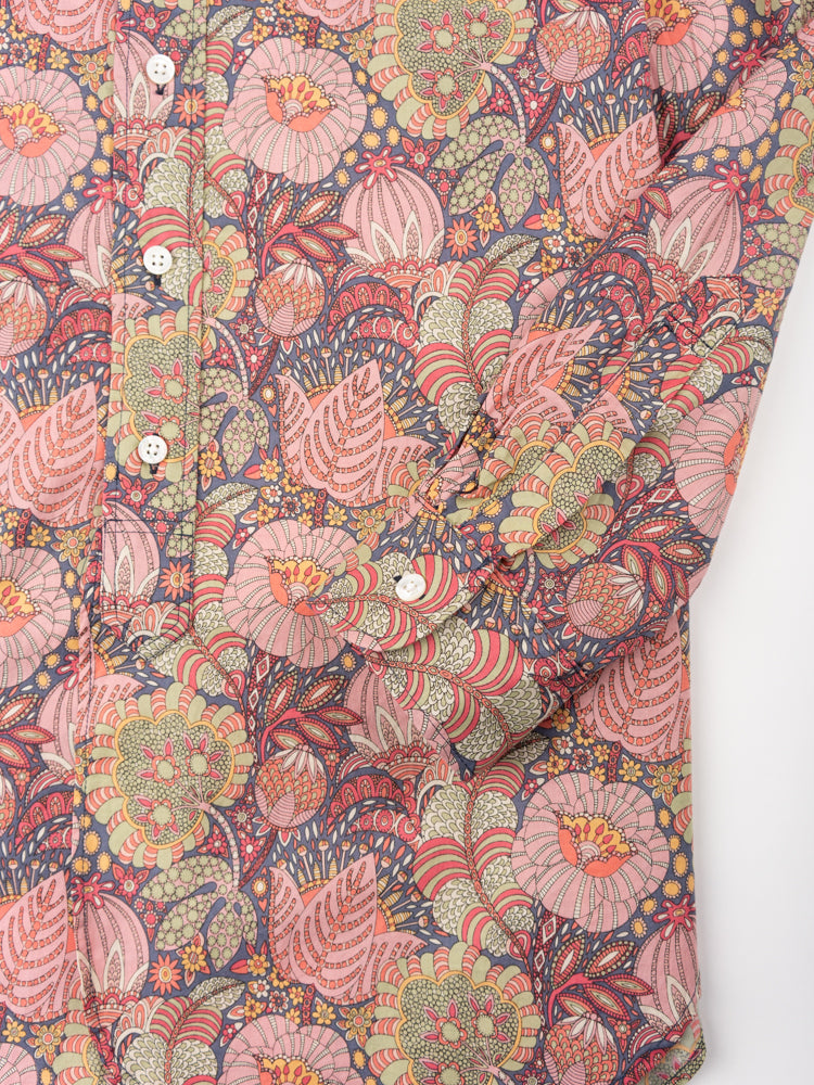 19 century bd, pink floral print, cotton lawn, engineered garments, cuff detail