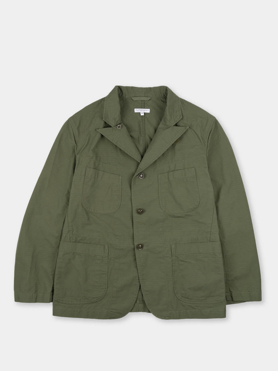 bedford jacket, olive, cotton ripstop, engineered garments