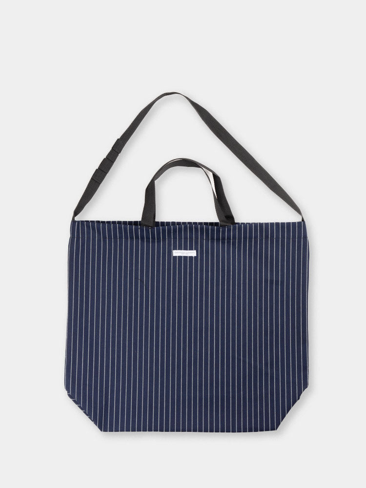 carry all, tote bag,indigo, cotton, wabash, stripe, engineered garments