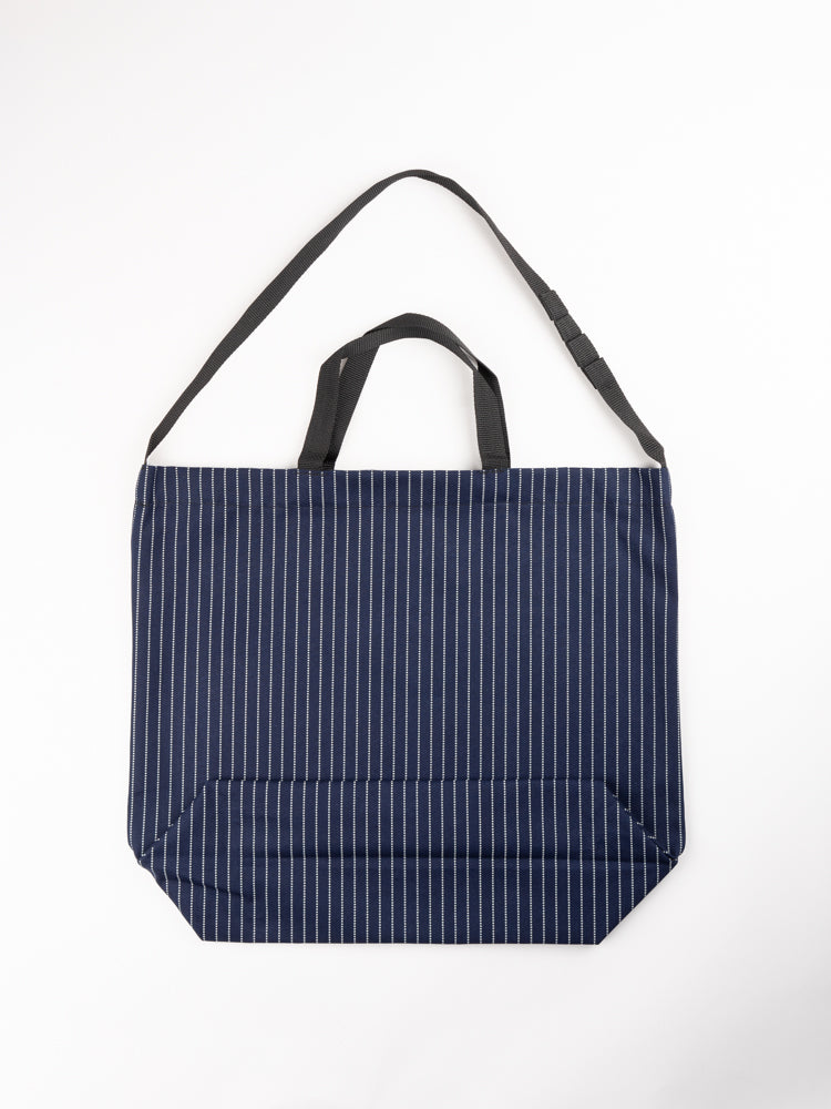 Carry All Tote Indigo Cotton Wabash Stripe
