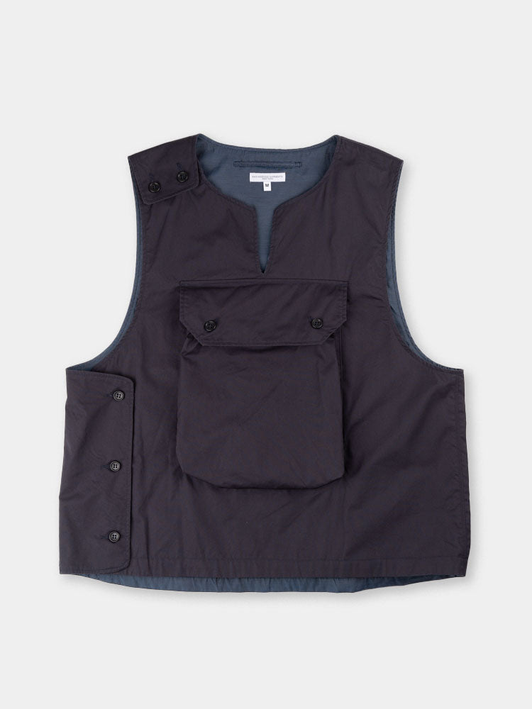 cover vest, dark navy, highcount twill, engineered garments, SS20