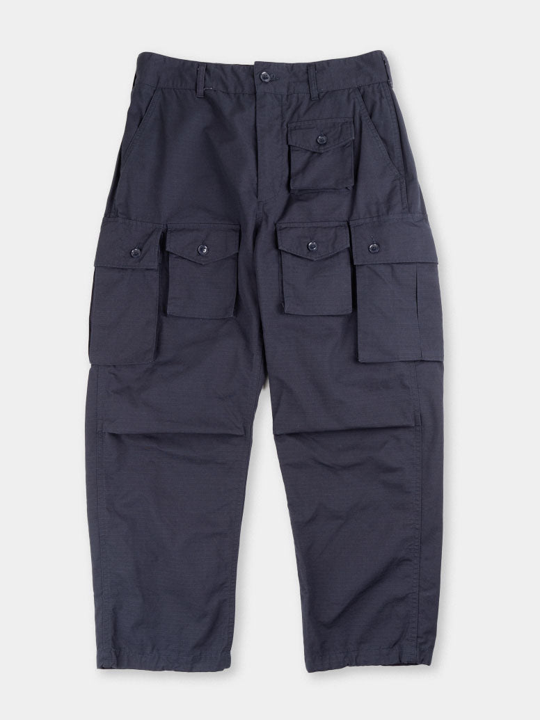 FA pant, cargo, dark navy, cotton ripstop, engineered garments