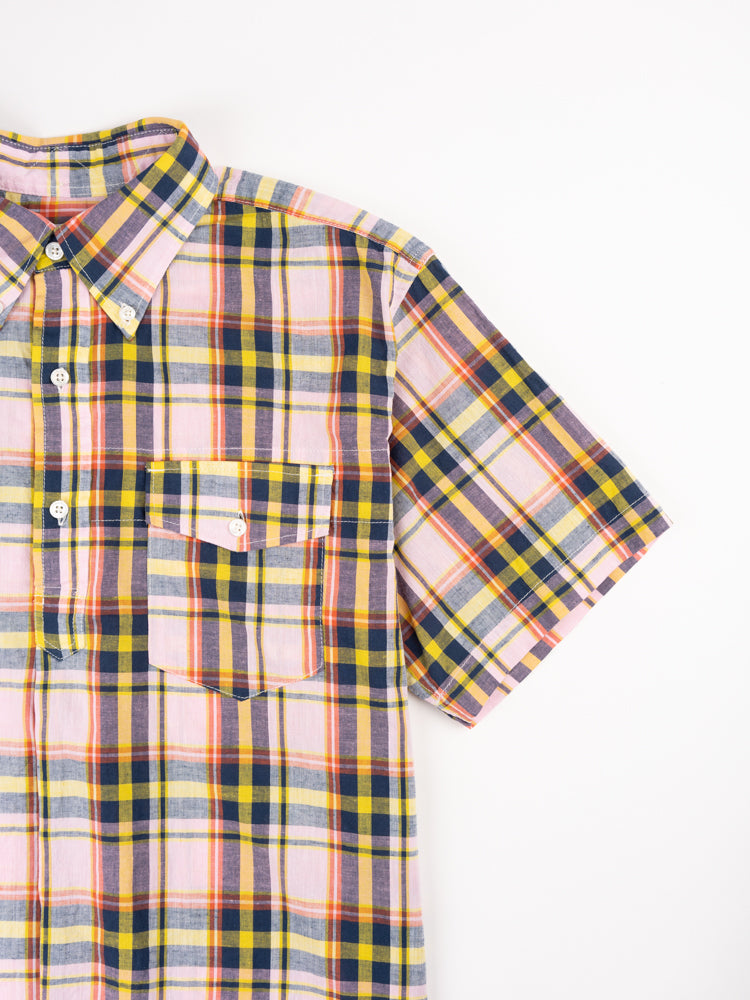 Popover BD Shirt Pink Yellow CL Madras Plaid