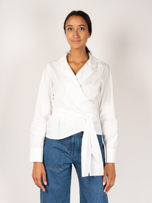Mesa Wrap Shirt White