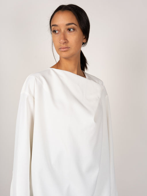 Draping Blouse White