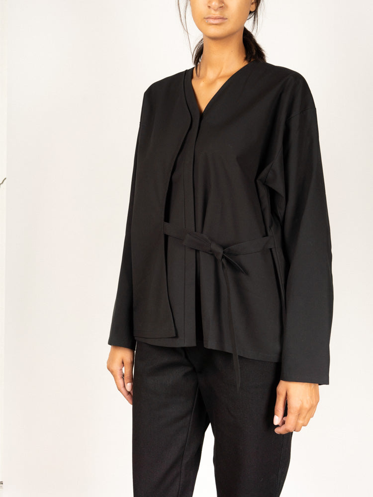 Layered Blouse Black