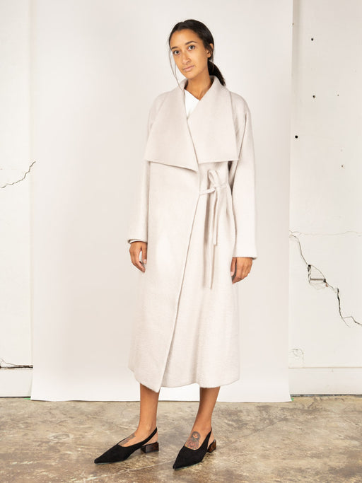 wide collar coat, white, Le 17 septembre