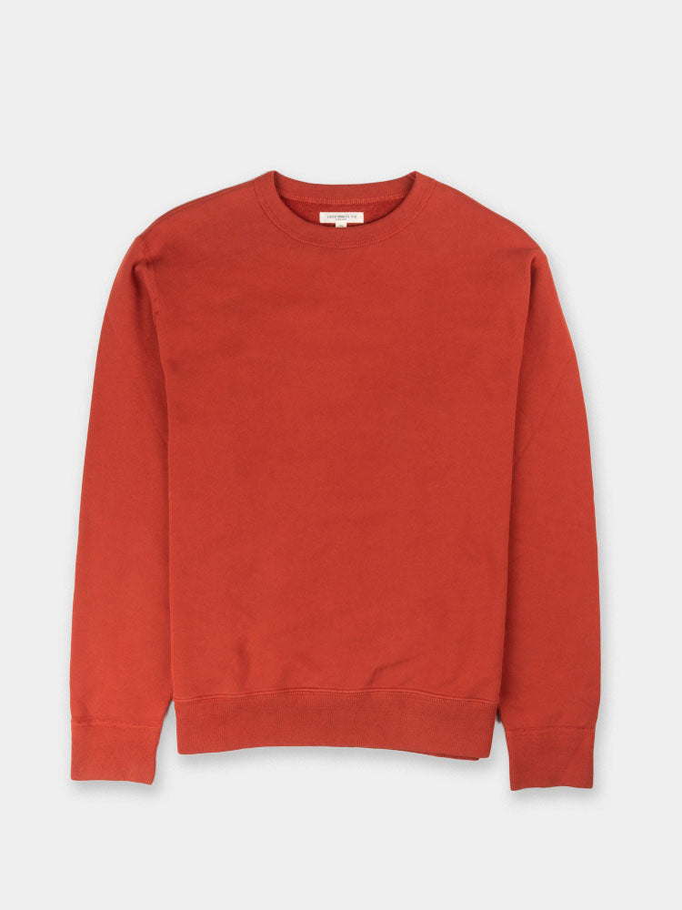 44 fleece, red ochre, crewneck, sweatshirt, Lady White Co.