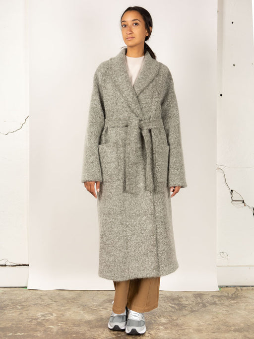 Shawl Collar Coat Olive