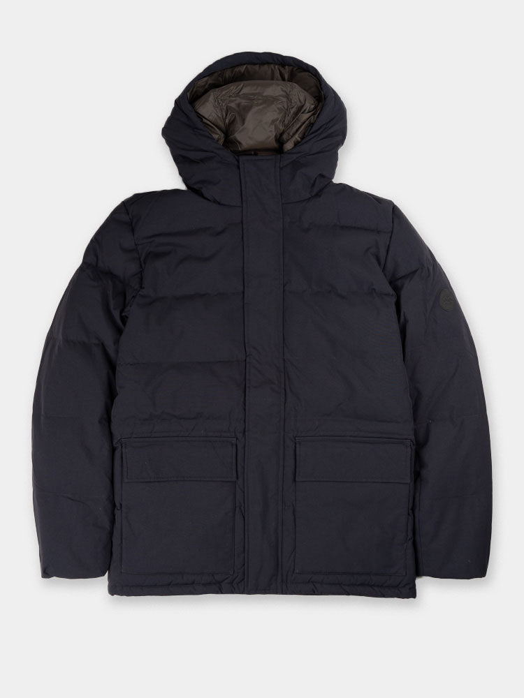 willum down, dry nylon, navy, norse projects, front view
