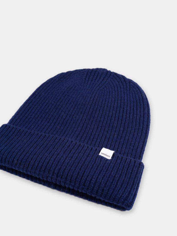 Norse High Top Beanie Vintage Indigo