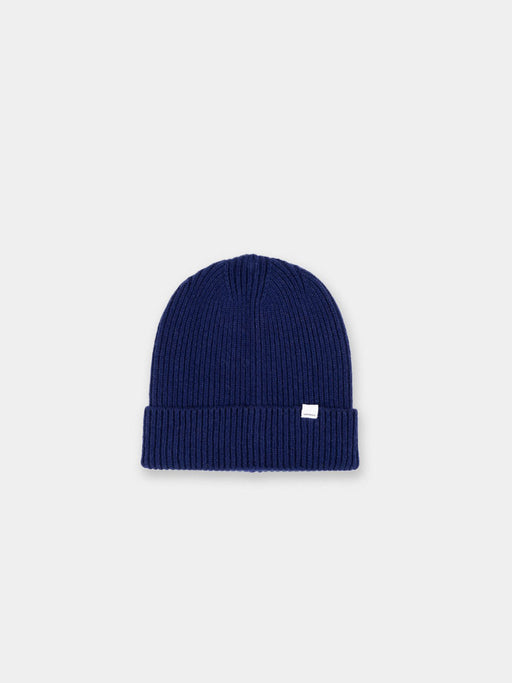 high top beanie, merino wool, vintage blue, norse projects