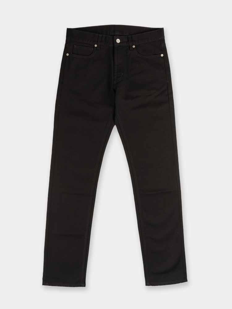 slim denim, mens pants, black, norse projects