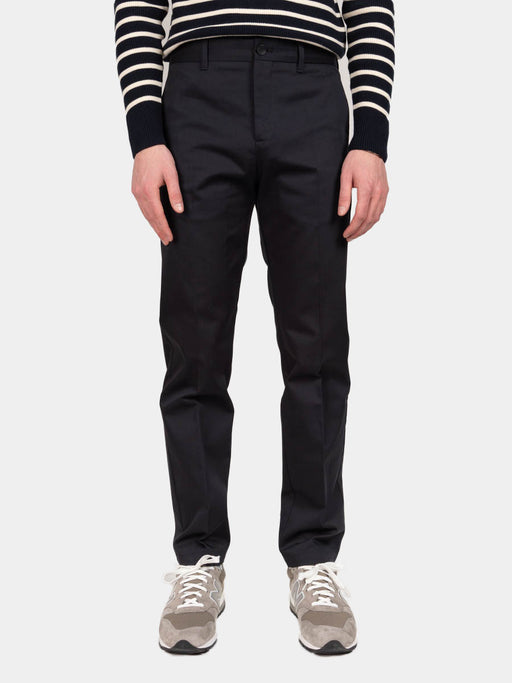 Albin Chino, Dark Navy, Norse Projects, on model front view