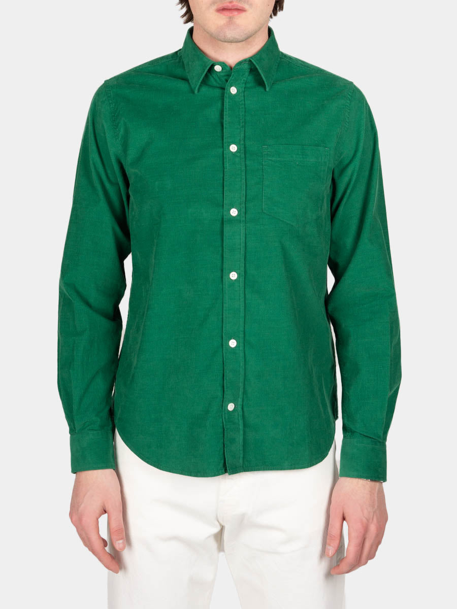 Osvald Corduroy, sporting green, norse projects, on model front view