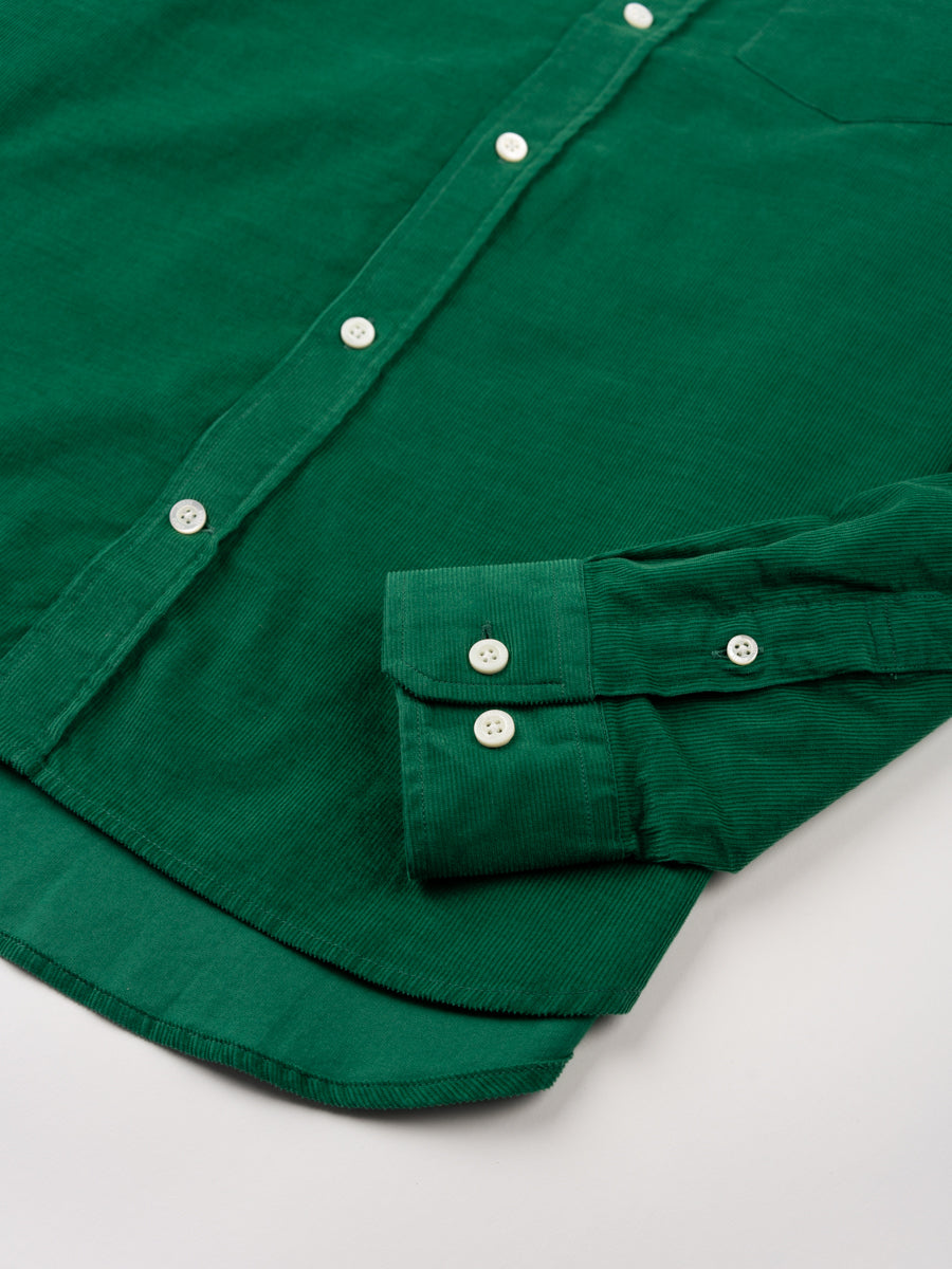 Osvald Corduroy, sporting green, norse projects, cuff and hem