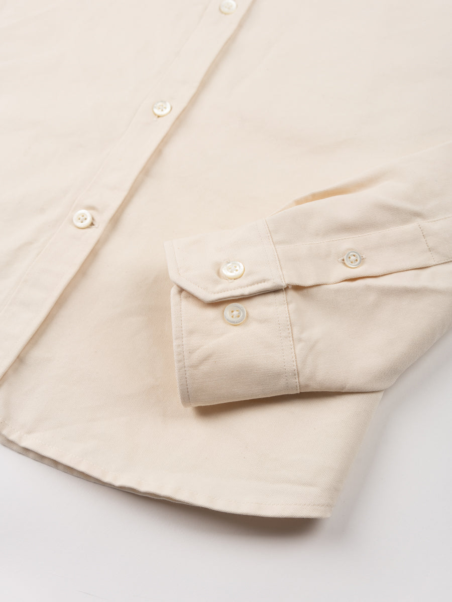 anton oxford, denim, ecru, norse projects, cuff detail