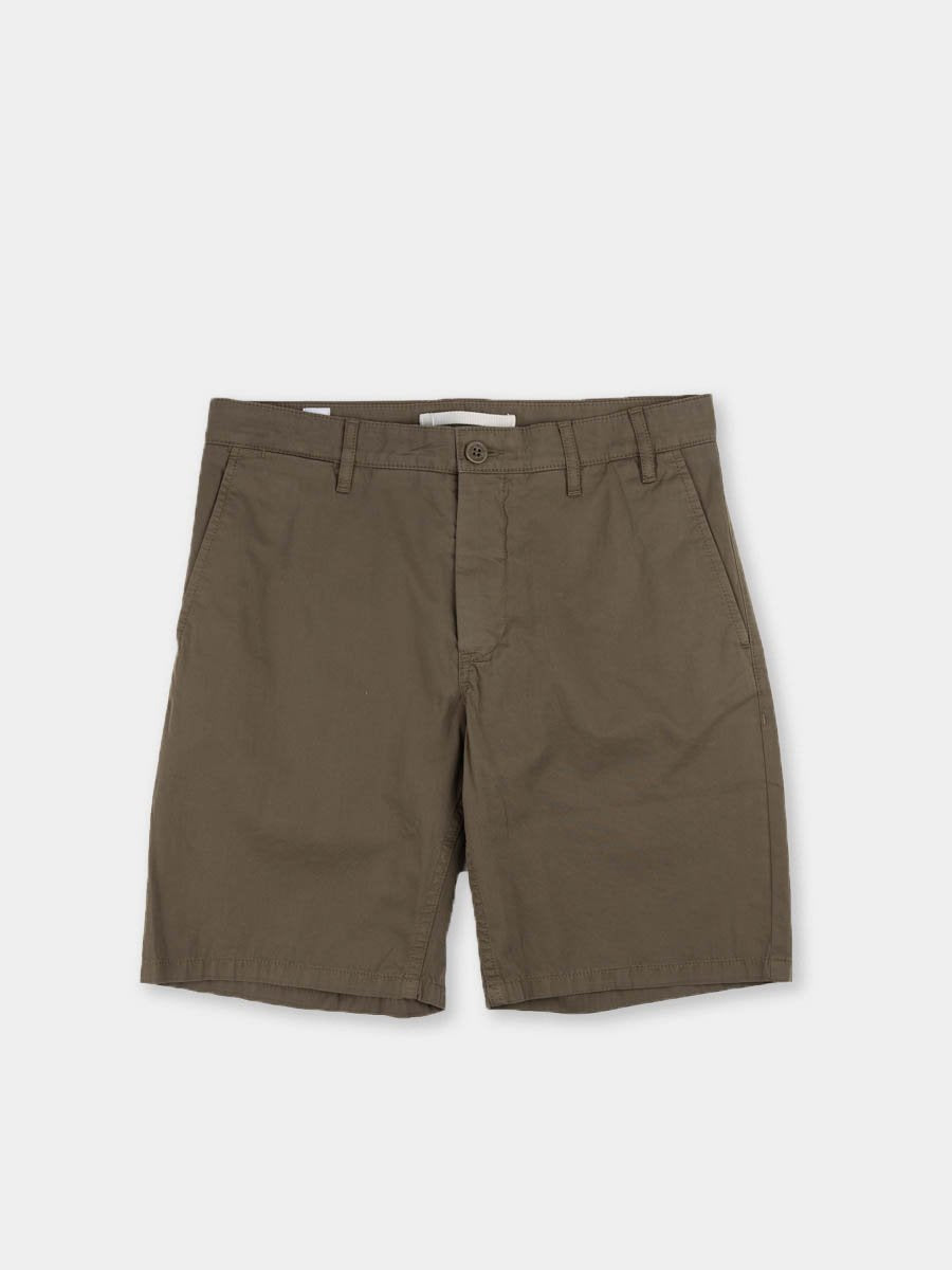 aros, light twill shorts, ivy green, norse projects