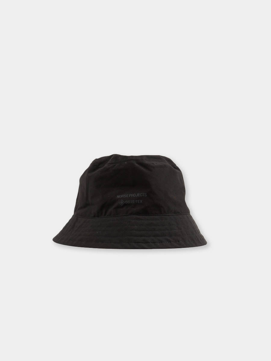 gore tex bucket hat, black, norse projects