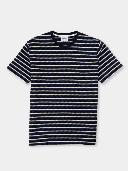 Johannes Jacquard Stripe, t-shirt, twilight blue, norse projects