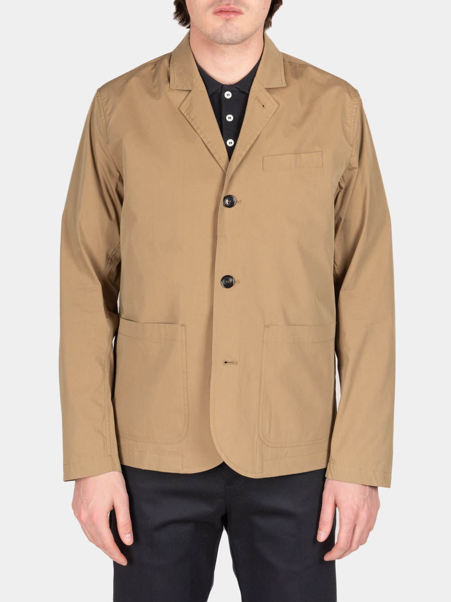 lars packable, utility khaki, norse projects, on model front view