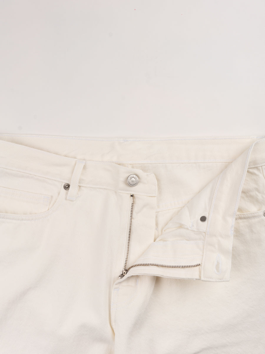 Norse regular denim, ecru, norse projects, zipper closure