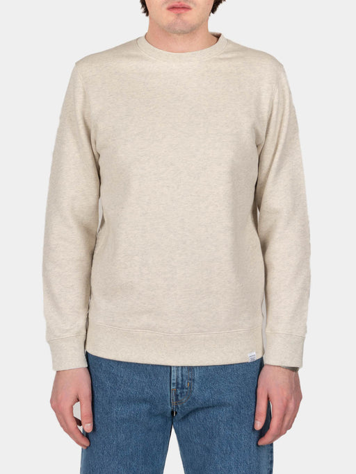 vagn classic crew, oatmeal, crewneck sweatshirt, norse projects, on body front