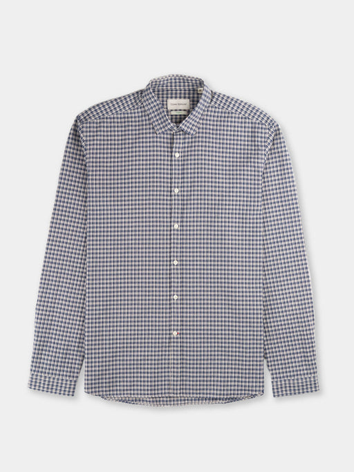 clerkenwell tab shirt, thorndon blue, oliver spencer