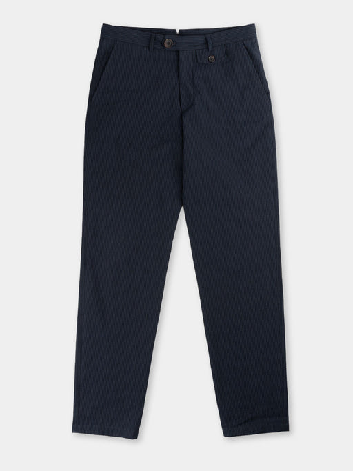 fishtail trouser, vyne navy, oliver spencer