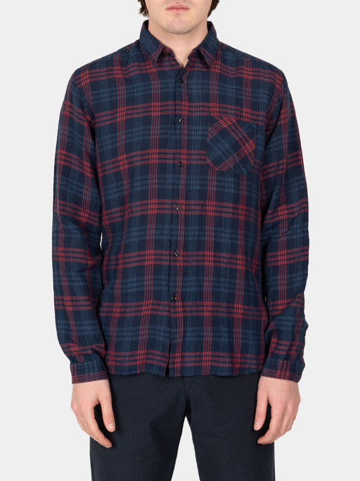 New York Special Shirt Fairhurst Indigo Red