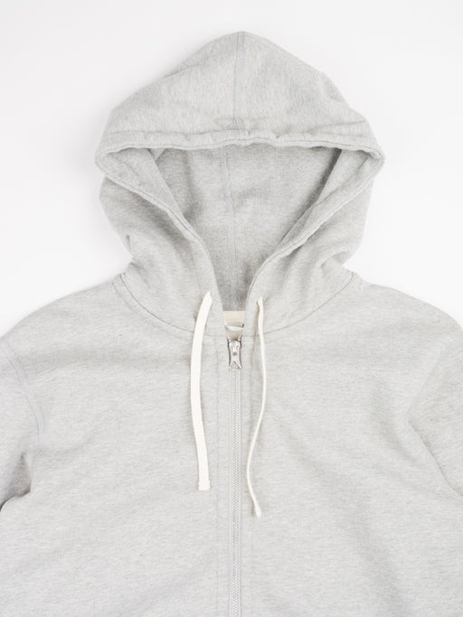 Midweight Terry Full Zip Hoodie Heather Grey