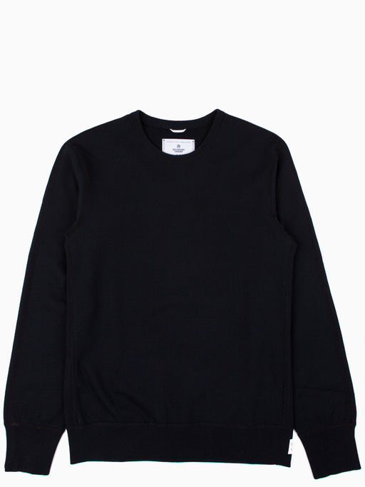 midweight, terry, long sleeve, crewneck sweatshirt, black, reigning champ