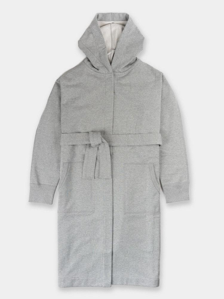 mid-weight, terry robe, mens robe, heather grey, reigning  champ