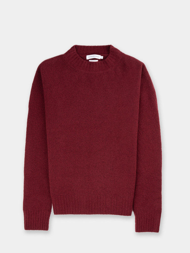schnayderman's, Crew Neck Wool Cashmere Burgundy, front view
