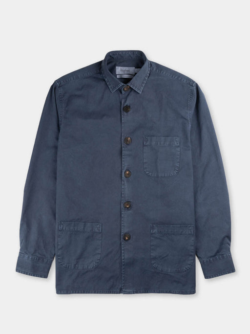 Overshirt overdyed one, dark blue, shcnayderman's