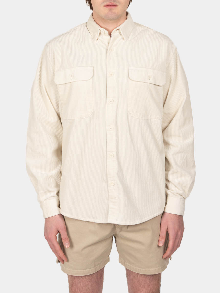 shirt boxy, cord, off white, schnayderman's, on model front view