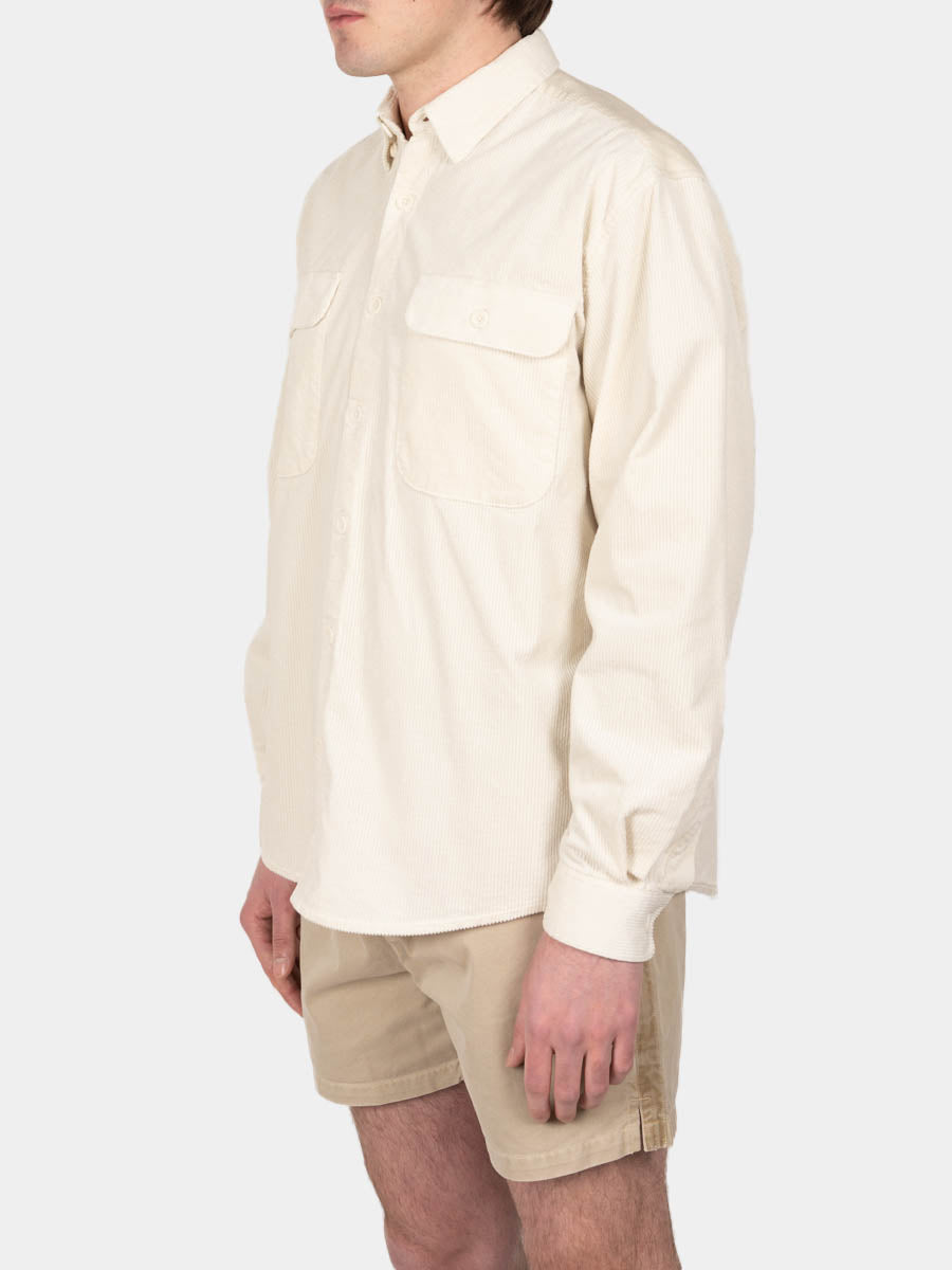shirt boxy, cord, off white, schnayderman's, on model side view