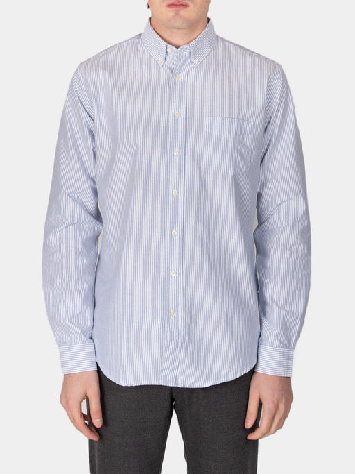 Shirt Oxford Regular Stripe Blue and White