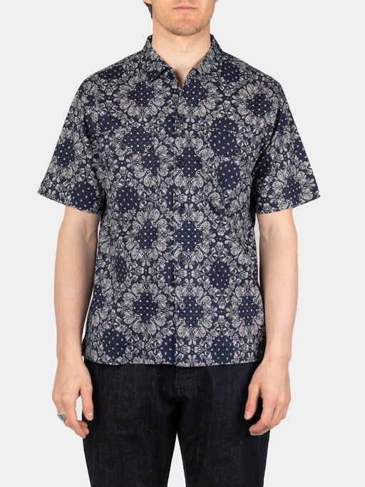 Utility SS Shirt Navy Bandana Cotton