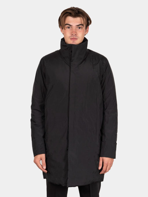 euler IS coat, black, veilance, on model front view