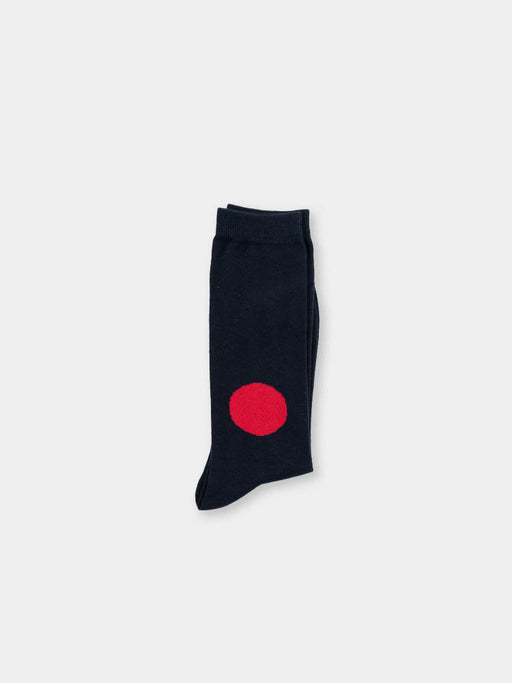 Unisex Knitted Japan Flag Socks Navy