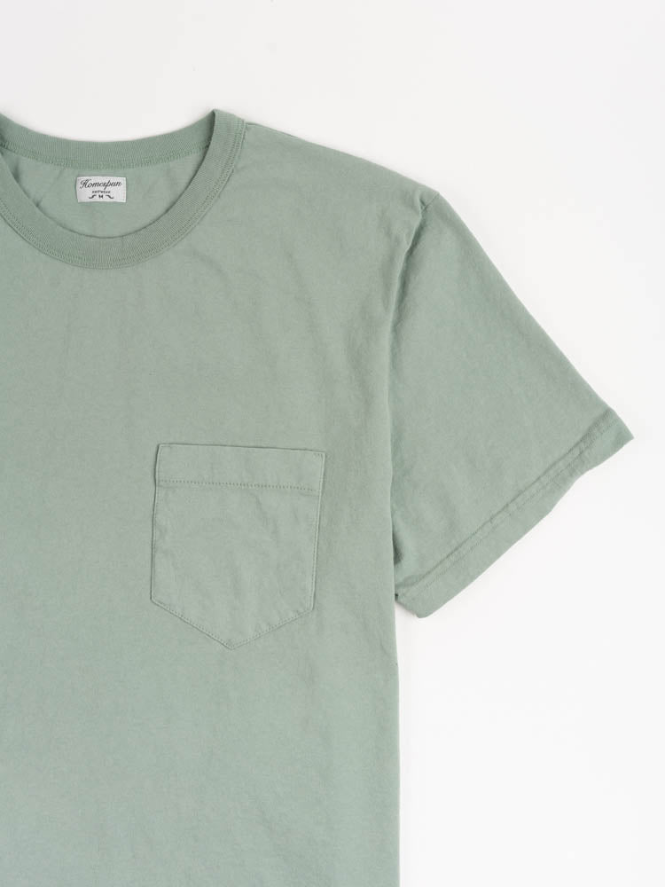 dads pocket tee, pine fade, chest pocket