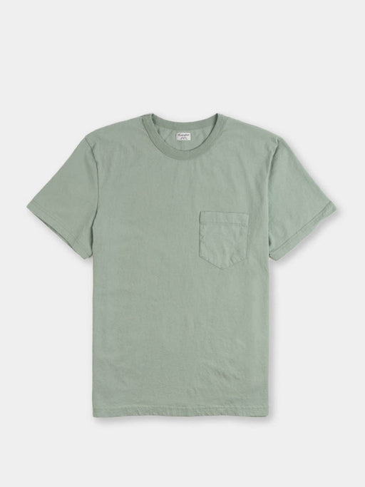 dads pocket tee, pine fade, front view