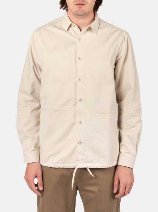 armadale overshirt, off white, kestin, on model front view