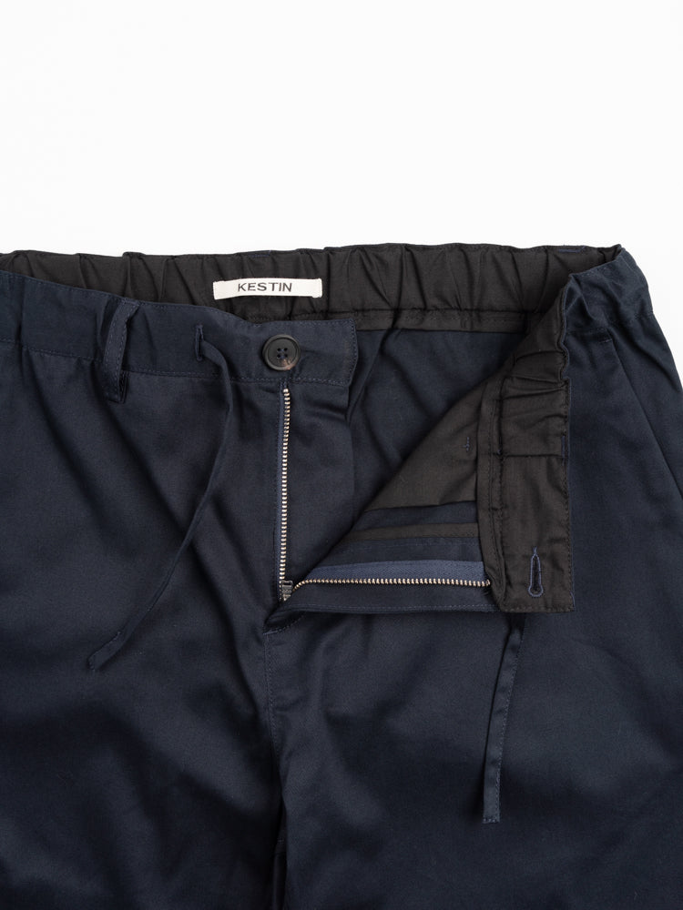 inverness stretch trouser, midnight, kestin, button and zipper closure