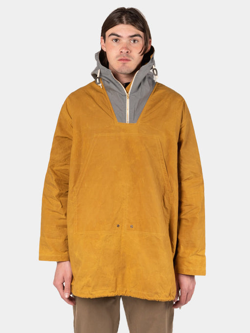 nevis smock, cumin and slate, kestin, on model front view