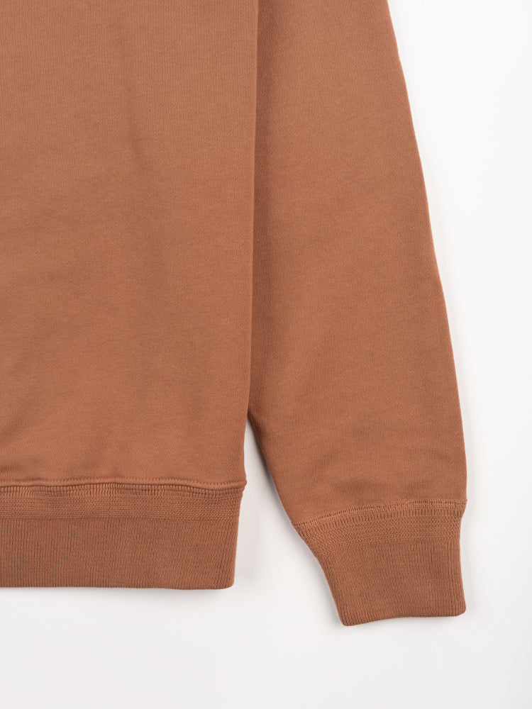 44 fleece, sweatshirt, red clay, lady white, cuff and hem