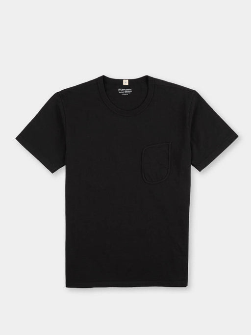 clark pocket t-shirt, black, lady white co