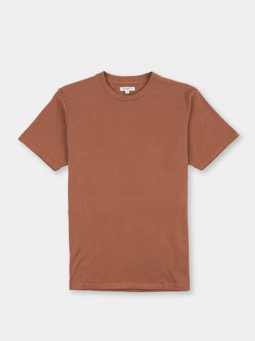 lite jersey tee, red clay, lady white co